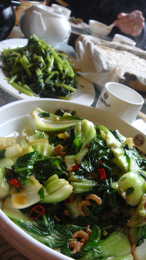 #4 The authentic Chinese greens which make you feel healthy even if you just sit and stare at them
