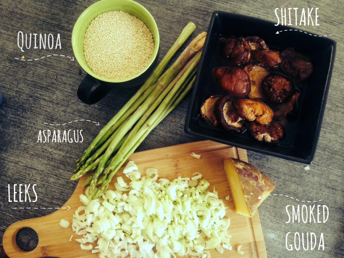 Masterchef inspired Quinoa Mushroom Risotto.