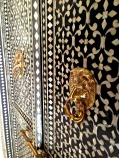 Mother of pearl inlay door