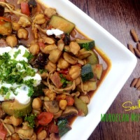 Mushroom and chickpea tagine