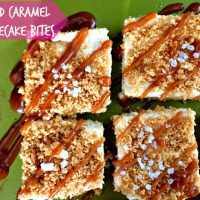 Salted Caramel Cheesecake Bites
