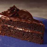 The moist chocolate ganache cake